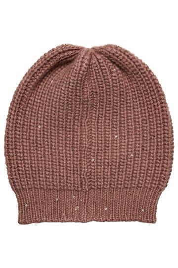 Brunello Cucinelli Brunello Cucinelli Cashmere Hat With Silk And Sequins