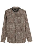 The Kooples The Kooples Leopard Print Cotton Shirt - Animal Prints