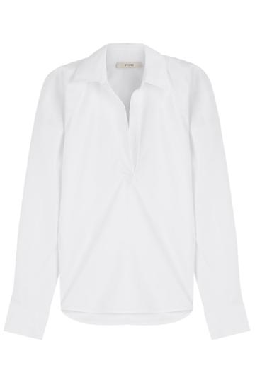 Céline Céline Open Collar Shirt - White