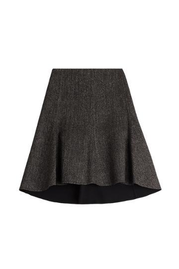 Céline Céline Wool-blend Flared Skirt - Grey