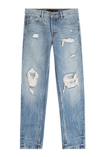 Alexander Wang Alexander Wang Distressed Straight Jeans