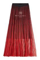 Balenciaga Balenciaga Pleated Knit Skirt