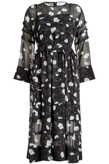Carven Carven Printed Chiffon Dress