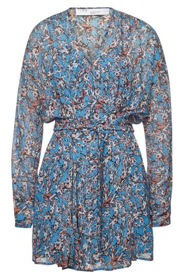 Iro Iro Bustle Floral Wrap Dress