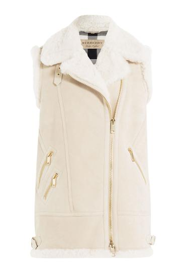 Burberry Brit Burberry Brit Shearling Vest - Beige