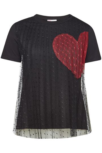 Red Valentino Red Valentino Cotton T-shirt With Mesh