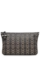 Alexander Mcqueen Alexander Mcqueen Laser Cut Leather Clutch - Black