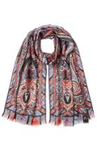 Etro Etro Printed Scarf With Wool And Silk - Multicolor