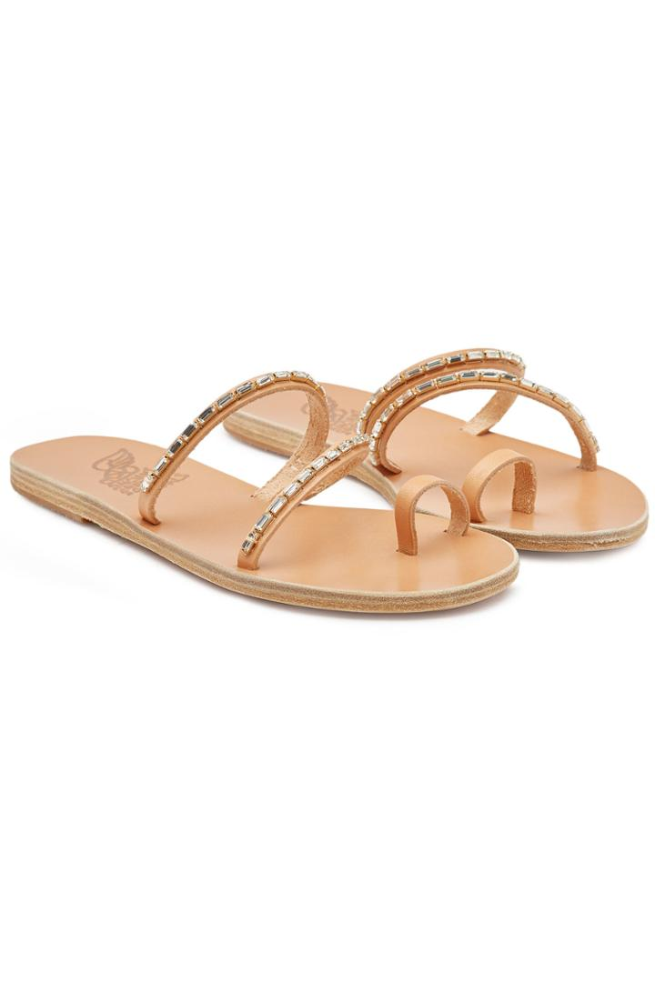 Ancient Greek Sandals Ancient Greek Sandals Apli Katia Embellished Leather Sandals