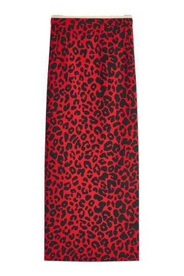 N 21 N°21 Leopard Print Midi Skirt