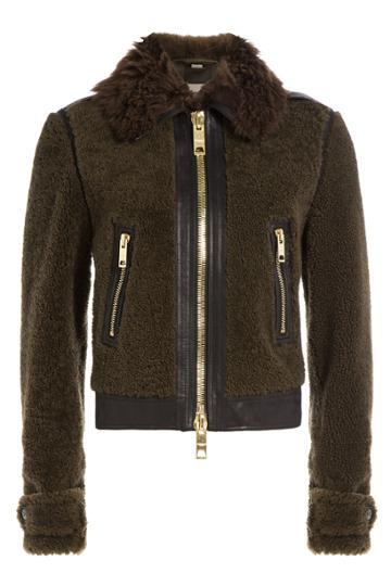 Burberry Brit Burberry Brit Shearling Jacket - Green