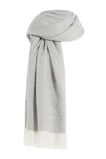Agnona Agnona Wool Scarf - Grey