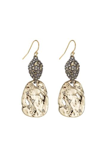 Alexis Bittar Alexis Bittar 10kt Gold Earrings With Pyrite And Crystals