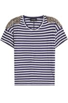The Kooples The Kooples Striped T-shirt With Embellishment