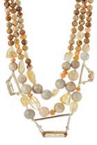 Alexis Bittar Alexis Bittar Beaded Triple Strand 10k Gold Necklace