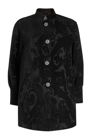 Etro Etro Coat With Wool, Silk And Embellished Buttons
