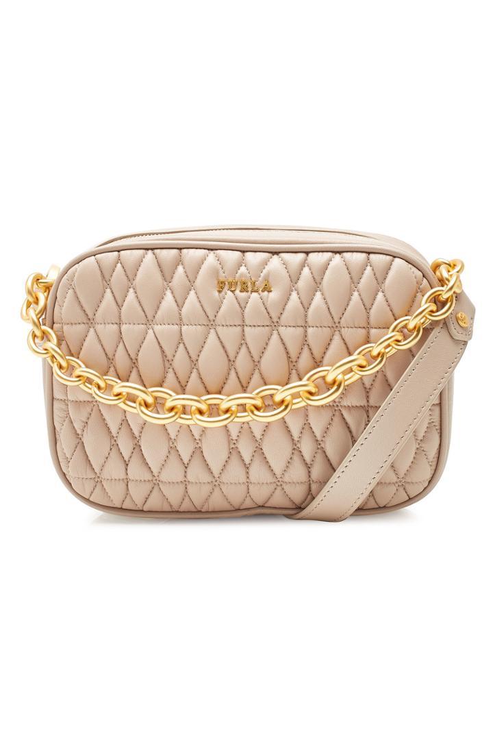 Furla Furla Cometa Mini Shoulder Bag In Quilted Leather