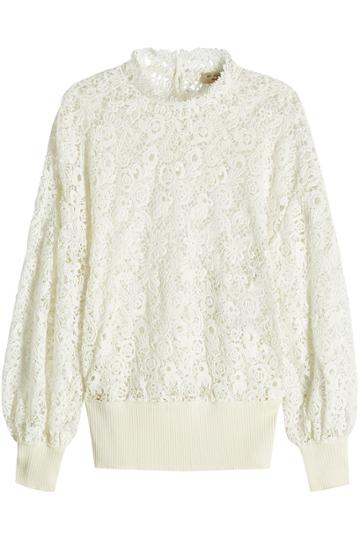Burberry Burberry Lace Pullover With Cotton