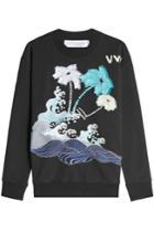 Victoria, Victoria Beckham Victoria, Victoria Beckham Embroidered Cotton Sweatshirt