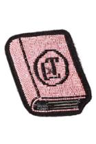 Olympia Le-tan Olympia Le-tan Beaded Book Patch - Pink