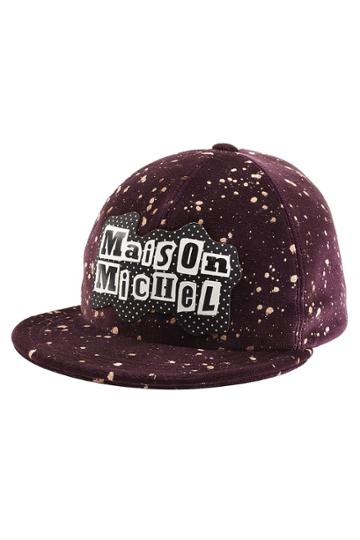 Maison Michel Maison Michel Printed Cotton Baseball Cap - Purple