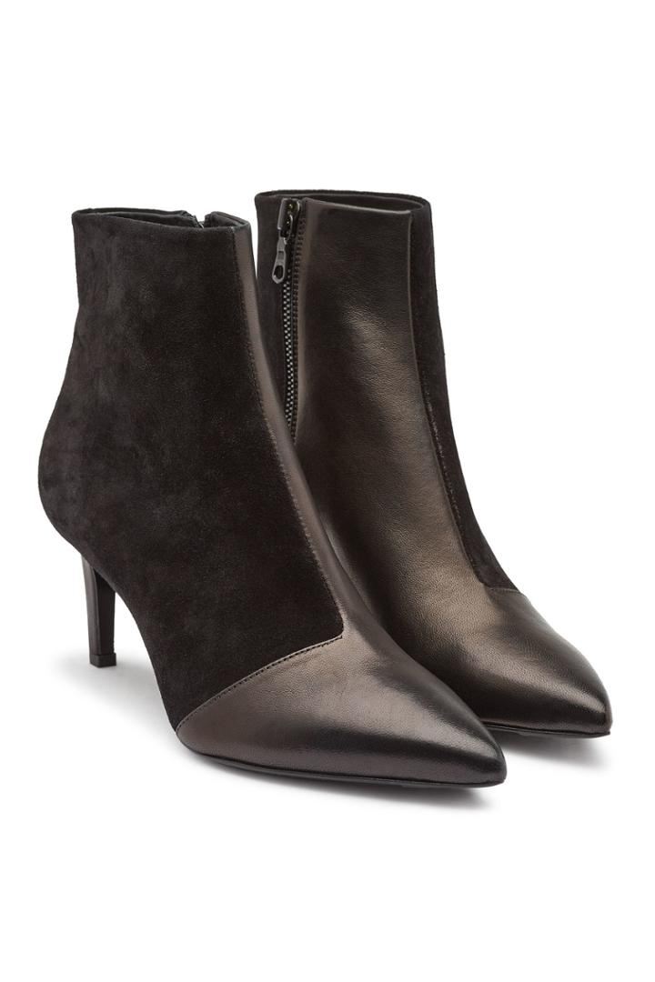 Rag & Bone Rag & Bone Beha Suede And Leather Ankle Boots