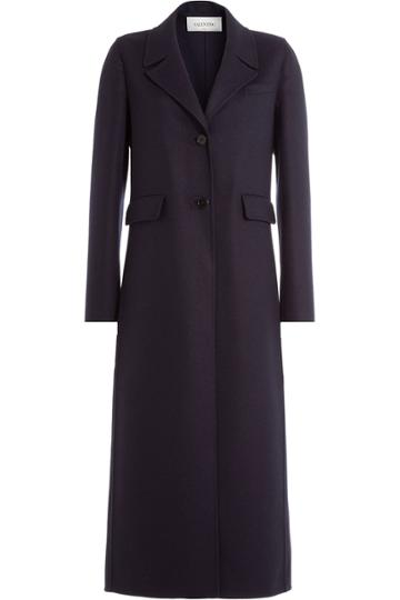 Valentino Valentino Virgin Wool Coat - Blue
