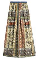 Alberta Ferretti Alberta Ferretti Printed Silk Skirt