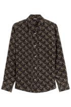 A.p.c. A.p.c. Printed Silk Shirt - Black