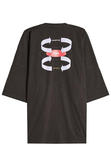 Balenciaga Balenciaga Oversized Printed Cotton T-shirt