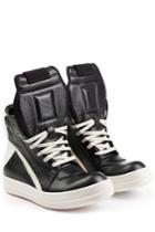 Rick Owens Rick Owens Leather High-top Sneakers - Black