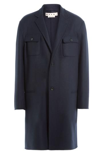 Marni Marni Wool Coat - Blue
