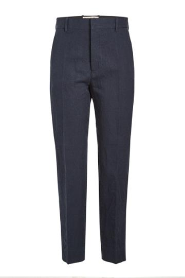 Marni Marni Cropped Linen Pants With Cotton