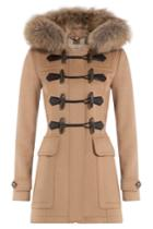 Burberry Burberry Wool Duffle Coat With Fur-trimmed Hood