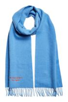 Burberry Burberry Cashmere Scarf With Embroidered Logo