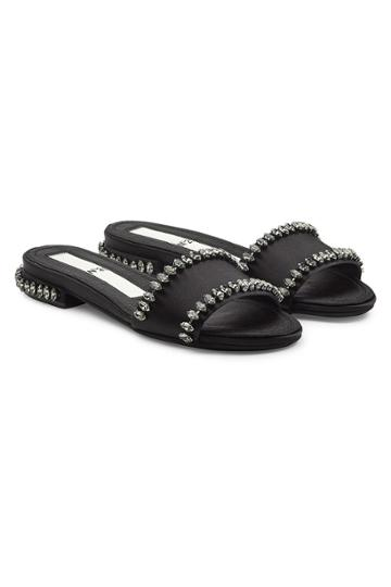 N 21 N°21 Embellished Satin Sandals