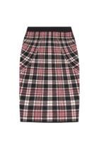 Alexander Mcqueen Checked Wool Skirt