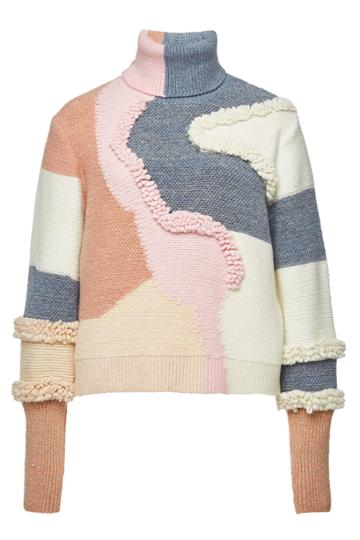 Peter Pilotto Peter Pilotto Heavy Knit Turtleneck Pullover With Cotton And Wool