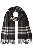Burberry Shoes & Accessories Burberry Shoes & Accessories Checked Cashmere Scarf - Black