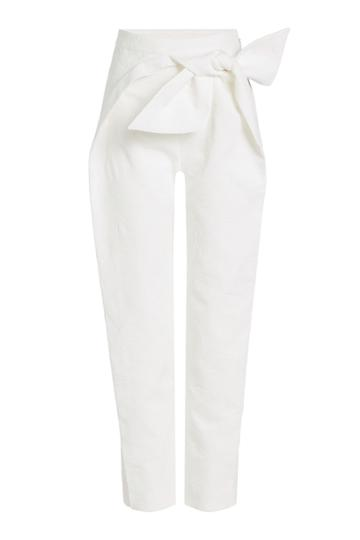 Delpozo Delpozo Bow-front Cotton Trousers