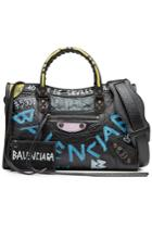 Balenciaga Balenciaga Graffiti Classic City Leather Shoulder Bag