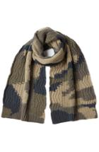 Valentino Camouflage Printed Wool Scarf
