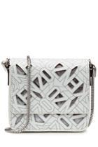 Kenzo Kenzo Printed Leather Shoulder Bag - White