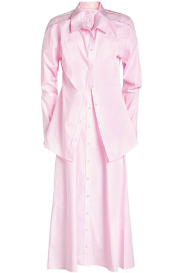 Y/project Y/project Double Layered Cotton Shirt Dress