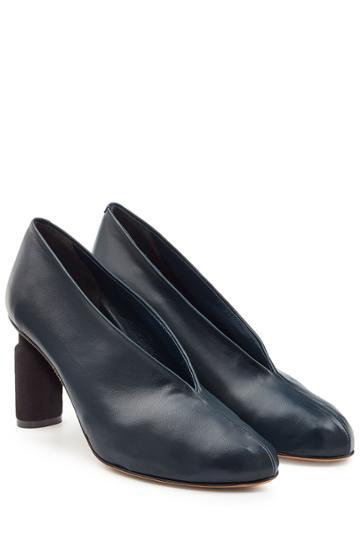 Céline Céline Leather Pumps - Blue