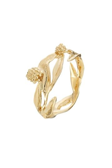 Aurélie Bidermann Aurélie Bidermann Mimosa 18k Yellow Gold Plated Ring