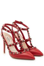 Valentino Valentino Rockstud Leather Pumps - Red