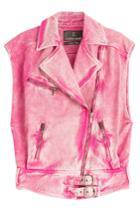 Roberto Cavalli Roberto Cavalli Washed Denim Vest - Multicolored