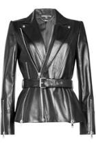 Alexander Mcqueen Alexander Mcqueen Belted Leather Jacket