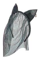 Maison Michel Maison Michel Heidi Headband With Lace Veil And Cat Ears - Black